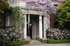 If you live in the Bay Area then you must visit Filoli.  The home and the surrounding gardens are truly amazing.