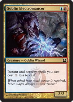 Foil Goblin Electromancer mtg Magic the Gathering Return to Ravnica blue red izzet wizard creature card