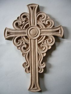 Handmade Wooden Cross Woodcarving Home Decor Wall by CarvingRoots