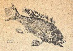Leaping Rainbow Trout GYOTAKU Fish Art Rubbing on natural Japanese Shoji paper.