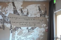 Oeuvre murale sur mesure et texte poétique Hôtel Le Grand Aigle**** Serre Chevalier by Mel et Kio