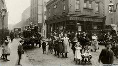 Brick Lane 1900's  Cockneys pose for photo.
