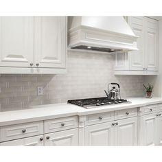 Provence Carrara Waterjet Marble Mosaic - 12 x 12 - 100253400 Gray Kitchen Backsplash, Kitchen Tiles, New Kitchen, Backsplash Ideas, Backsplash For White Cabinets, Updated Kitchen, Tile Ideas, Backsplash Kitchen White Cabinets, Kitchen Vent