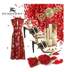 """""""Burberry Red Beauty"""" by forgottenmelody on Polyvore featuring Burberry"""