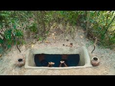 Building The Most Temple Tunnel Swimming Pool Underground Style How To Build, Primitive Technology, Underground Swimming Pool, How To Make, Build Swimming Po. Underground Swimming Pool, Swimming Pools, 1 Story House, Primitive Technology, Underground Homes, Water Slides, Temple, Survival, Building