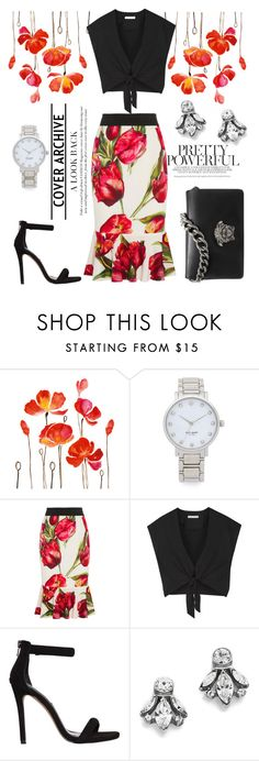 """""""P"""" by olecika-777 ❤ liked on Polyvore featuring Kate Spade, Dolce&Gabbana, Alice + Olivia, Steve Madden, Ben-Amun and Versace"""