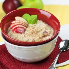 This oatmeal recipe is light and fluffy because of the egg whites in it, which gives you added protein as well :)