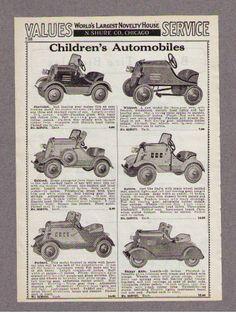 1933 Ad Pedal Cars Chevrolet Whippet Oakland Auburn Packard