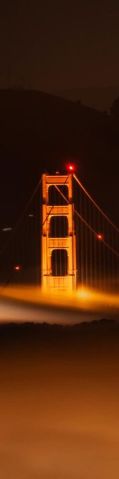 """Golden Gate Bridge in the fog and mist - from the Exhibition: """"Cropped for Pinterest"""" - photo from #treyratcliff Trey Ratcliff at www.StuckInCustoms.com"""
