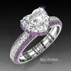 A WOW!!! The most beautiful Amethyst Engagement Ring. YOU will love it. ***VISIT TODAY***