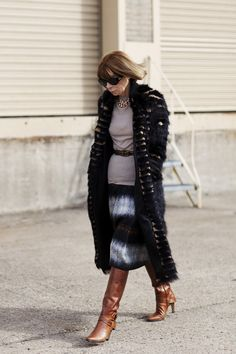 This woman decides what we wear. Do you know her name? Anna Wintour, editor-US Vogue
