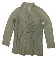 Matty M Womens Wool Blend Crochet Open Front Cardigan Sweater XSmall Bark *** You can get additional details at the image link.