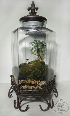 Totoro in Vintage Jar  Find us on Facebook ::