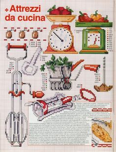 Kitchen Utensils Cross Sch