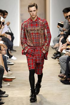 Let us revisit this masterpiece! Givenchy mens fall 2013 plaid