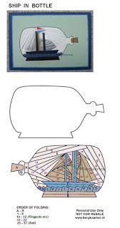 Irisvouwen: Ship in Bottle
