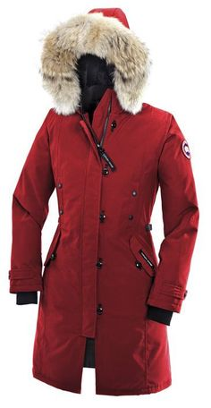 Discount Canada Goose Kensington Parka Red Womens