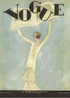 Georges Lepape   March 29, 1930   Conde Nast invited Lepape to New York in 1926, further cementing a long and profitable relationship with Vogue as that publication took over Gazette du Bon Ton.  He illustrated eight of the Vogue covers in 1927 plus covers for Vanity Fair.