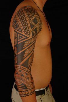 http://tattoo-ideas.us/wp-content/uploads/2014/01/Polynesian-Tribal-Arm-Tattoo-683x1024.jpg Polynesian Tribal Arm Tattoo #Armtattoos, #BlackInk, #Sleevetattoos, #Tribaltattoos