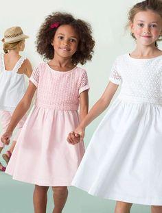 49ac1921def Robe de cérémonie fille bi-matière BLANC+ROSE PALE - vertbaudet enfant -
