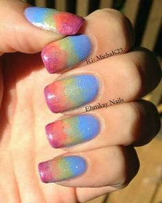 Early Sunsets Nail Art   http://ehmkaynails.blogspot.com/2013/09/falling-for-nail-art-early-sunsets.html