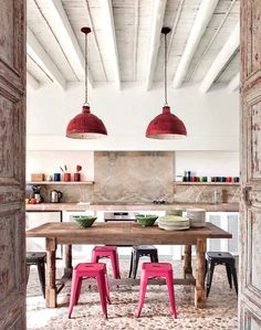Kitchen in house on Mallorca, designed by Ramon Garcia Jurado, photo by Montse Garriga Grau for House & Garden UK