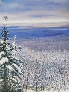 Vermont Winter Wonderland Print  of the Molly Stark Trail   Print of Oil Painting