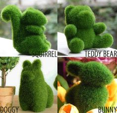 Woodland artificial turf grass pet animals by colorpan on Etsy, $10.00