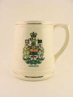 Canadian Coat of Arms Beer Mug Ceramic Royal