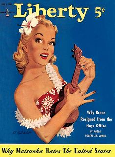 Liberty magazine cover featuring the ukulele
