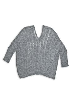 Double Vneck Boxy Sweater