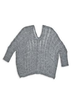 Double Vneck Boxy Sweater