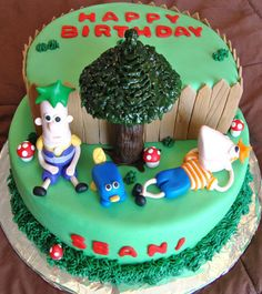 Phineas and Ferb Cake Birthday Cake