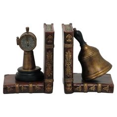 Add a stately touch to your library shelves or mantel with this handsome bookend, showcasing a seafaring design for antiqued appeal. Library Shelves, Clay Projects, Joss And Main, Decorative Objects, Console Table, Home Furniture, Bookends, Nautical, Sculptures