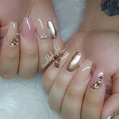 65 gorgeous gel nail designs with gems sparkle for you check them out! 19 65 gorgeous gel nail designs with gems sparkle for you check them out! Beautiful Nail Art, Gorgeous Nails, Pretty Nails, Fancy Nails, Love Nails, My Nails, Polish Nails, Nail Swag, Nail Arts