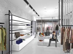 Магазин мужской одежды в Краснодаре: интерьер, зd визуализация, магазин, супермаркет, минимализм, 100 - 200 м2, торговый зал, витрина, интерьер #interiordesign #3dvisualization #shop #supermarket #minimalism #100_200m2 #salesroom #showcase #interior arXip.com