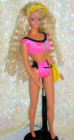 1989 Beach Blast Barbie ~ I loved the little pink hair thing that came with her!