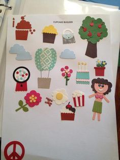 Love these ideas for cupcake builder punch from SU.