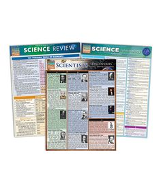 Another great find on #zulily! Science Quick Study Laminated Reference Sheet Set by BarCharts #zulilyfinds