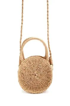 Product Name:Round Wicker Satchel, Category:ACC_Handbags, Shop Forever, Forever 21, New Handbags, Summer Outfits Women, Lace Up Heels, Satchel, Crossbody Bags, Sneakers Fashion, Straw Bag