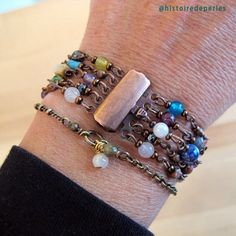 Bracelet with stones statementjewelry oneofakind gemstones Statement Jewelry, Costume Jewelry, Jewelry Accessories, Beaded Bracelets, Gemstones, Detail, Instagram, Handmade, Bead