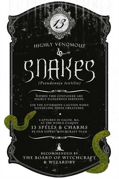 Potion Ingredients Label by Love Manor, via Flickr... this would work on a jar of rubber snakes.