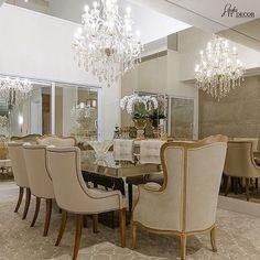 Mais uma linda inspiração para sala de jantar! @_decor4home Projeto by Studio It Decor