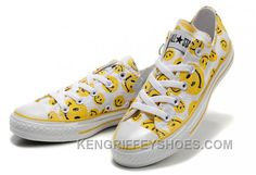 Discover the Yellow Smiley Face CONVERSE White Canvas Sneakers Women Discount collection at Footseek. Shop Yellow Smiley Face CONVERSE White Canvas Sneakers Women Discount black, grey, blue and more. Converse Sneakers, Canvas Sneakers, Sneakers Women, Vans, Women's Converse, Custom Converse, Michael Jordan Shoes, Air Jordan Shoes, New Jordans Shoes