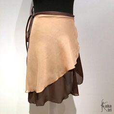 Ballet-wrap skirt double layer chiffon hand sewn by kakakiri