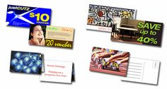 Expertly designed marketing cards are available at Discount Printing