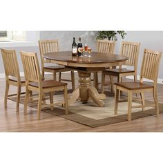 For Simply Solid Samaria Wood 7 Piece Dining Collection