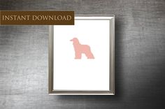 Printable Afghan Hound Art 8x10 - Set of 4 Colors - Digital Dog Silhouette - Downloadable Afghan Hound - Instant Download Clip Art