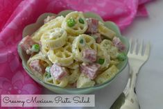 Creamy Mexican Pasta Salad By Nibbles and Feasts #RanchRemix