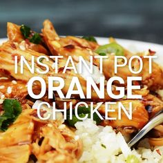 This Instant Pot Orange Chicken Recipe is a healthier version of a classic. My recipe uses FRESH orange juice and zest, keeping this flavorful and light. Quick. Easy. Can be gluten free. Healthy. Delicious! showmetheyummy.com #instantpot #orange #chicken